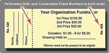 5,000 Event / Raffle Tickets -  Custom Printed, Numbered & Perforated Card Stock