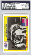 Floyd Patterson Autographed Signed 1983 Topps Olympians Card #77 PSA 83825935