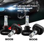 Nighteye 9006 + 9005 4PCS LED Total 100W 16000LM Combo Headlight Kit 6500K White
