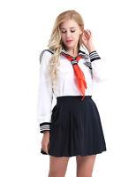 Halloween Sailor Girl Ladies Fancy Dress Uniform Womens Adult Costume Outfit Set