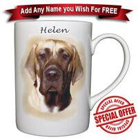 Great Dane Dog - Bone China Mug + Personalised with any name added for free