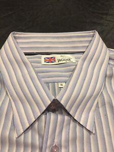New 'JAGUAR Of London' XL Long Sleeve Shirt Soft Purple/Pink Striped