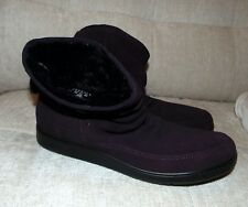 BNWOB Hotter Pixie purple suede ankle boots size 7.5