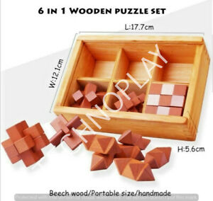 3D Puzzle set 6pcs for kids and adults Brain Teaser Puzzles Learning game Toy