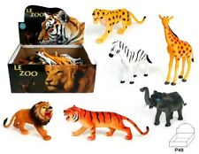 6 x Zootiere - ca. 10-15 cm - 6 verschiedene - Tombola Mitgebsel