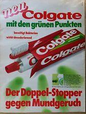 Colgate Toothpaste Print Ad Toothbrush In German 1970s Vintage