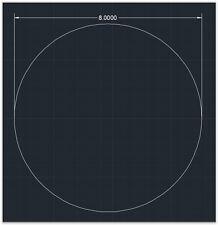 "1pc Acrylic Plastic (plexiglass)  Round  Sheet  - 1/8"" x 8""  Circle  -  Clear"