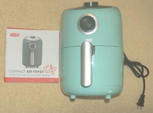 New DASH Air Crisp Tech 1.2qt Compact Fryer 1000 Watts Aqua Blue DCAF150GBAQ02