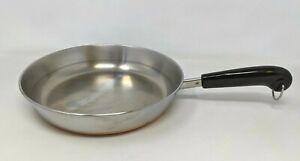 """VTG Paul Revere Ware Stainless Copper Bottom 10"""" Skillet Frying Pan Clinton TT20"""