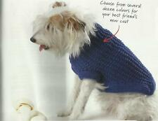 Knitting Pattern for a dog coat  (4 sizes)