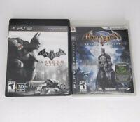 Batman Arkham Asylum & City - Complete PlayStation 3 PS3 (2 Game Lot)