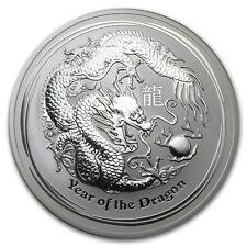 Perth Mint Australia 2012 $10 Lunar Series II Dragon 10 oz .999 Silver Coin