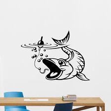 Fishing Wall Decal Nautical Fish Poster Nursery Vinyl Sticker Decor Mural 205hor