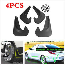 Universal 4Pcs Front Rear Car Mud Flaps Splash Guards Mudflaps Mudgurads Fender