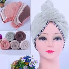 Fashion Quick Hair Drying Towel Hat Cap Soft Microfibre Dry Bath Pool Shower Hat