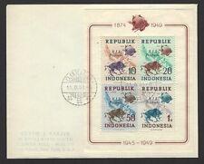Indonesia 1949 UPU S/S overprinted RIS DJAKARTA on cover to USA