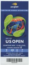 8/31 2019 US Open Tennis Courtside FULL TICKET Serena Williams Bianca Andreescu
