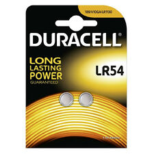 2 x DURACELL LR54 BATTERY ALKALINE 1.5V COIN CELL BUTTON BATTERIES AG10 V10GA