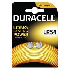 2 X LR54 1.5V Batería Alcalina DURACELL Moneda Célula Pilas de botón AG10 V10GA