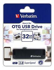 ($0 P & H) Verbatim 32gb Thumb Stick USB 3 OTG Drive For Smart Phone 64393