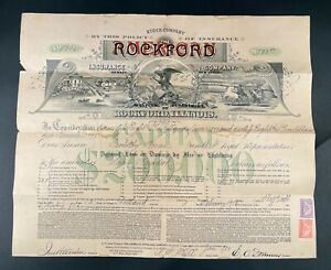 Unusual Vintage Counter stamped Insurance Certificate – From Rockford Insurance