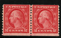 1917 US #492 Mint-VLH Type III  Hor. Coil Joint Line Pair [Perf 10 Vertically]