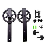 Sliding Barn Door Hardware Rollers Hangers for Interior Single Door Closet Set