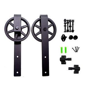 Sliding Barn Door Hardware Rollers Hangers for Interior Single Door Closet Set