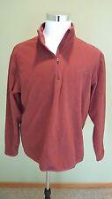 Eddie Bauer Men's Long Sleeve Light Weight 1/2 Zip Fleece Burgundy Pullover, L