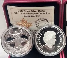 1867-2017 Proof Pure Silver Dollar $1 Canada: 150th Anniversary Confederation.