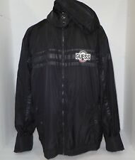 GUESS JEANS Los Angeles Womens Windbreaker Hoodie Jacket Coat Size XL Black