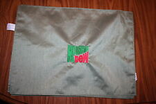 """""""Mt Dew Inspired"""" 2 NWOT Placemats green w/red/green Polyester embroidered"""