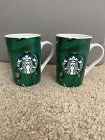 Set Of 2 2020 Starbucks Christmas Tree 11 fl oz Ceramic Cocoa Mug UNUSED
