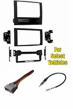 Double Din Car Stereo Radio Install Dash Mount Kit Combo for select Dodge + Jeep
