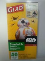 New Star Wars Glad Sandwich zipper bags 40 count Sealed