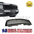 Glossy Black Front Hood Mesh Grill Grille For 07-13 Chevy Silverado1500