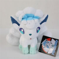 "Pokemon Center Alola Vulpix Plush Toy Sun & Moon Stuffed Doll 8"" Gift"