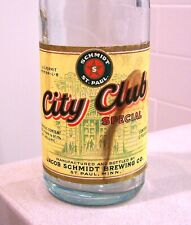 **Prohibition era c.1930s SCHMIDT CITY CLUB SPECIAL beer bottle from St. Paul MN