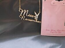 BRAND>NEW>GENUINE>GOLD>PLATED>PLAYBOY>NOVEMBER<NECKLACE>&>GEMSTONE of.MONTH