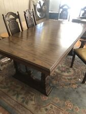 Vintage Basset Dining Table set W/ 6 chairs & Leaf Extension (Pick Up only)