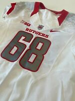 NIKE Rutgers Football Game Worn Issued Jersey Big Ten NCAA F.A.M.I.L.Y. Size 46