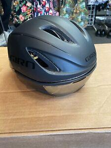 Giro Vanquish Matte Gloss Black Aero Cycling Helmet with Shield Size Medium (Sto