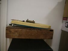 Vintage c1930 Bowman Snipe Steam boat in original wooden Box  working