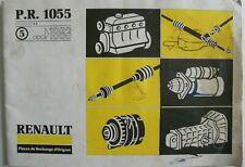 Manuel d'atelier Renault pièces de rechange PR 1055 / 5 de 03 / 1983