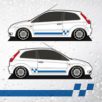 Fiesta Mk6 Smooth Check Side Stripes - Decals Vinyl Graphics 3dr & 5dr