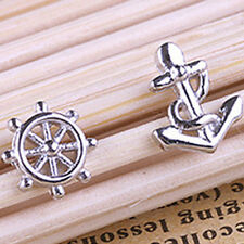Fine Quality Silver-plated Earrings Anchors And Rudder Women Accessories New