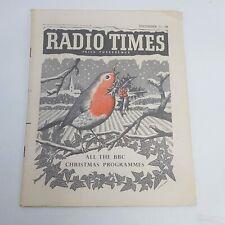 UK Christmas Radio Times 1957 Dec. 22nd - 28th [VG+] BBC Television & Radio UK