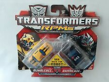 Transformers RPMs Bumblebee & Barricade MOSC Movie classic cars robots
