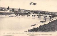 CPA AVIATION Gde SEMAINE D'AVIATION 1910 QUAI CLAUDE BERNARD ET PONT GUILLOTIERE