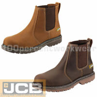 JCB AGMASTER PRO Safety Leather Dealer Slip On Work Boots Steel Toe Cap Sole New